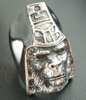 925 Silvers Online: Bape A Bathing Ape Planet Of The Apes Silver Ring