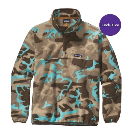 Men's Lightweight Synchilla Snap-T Pullover - Forest Camo: Howling Turquoise