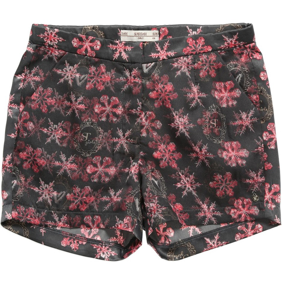 SuperTrash Girls - Girls Grey Satin 'Harley' Shorts | Childrensalon