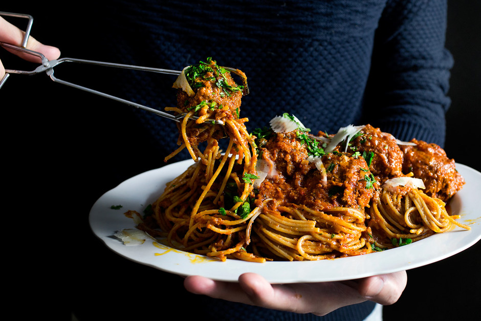 PEPPERONI MEATBALLS SPAGHETTI   Lady and Pups – an angry food blog