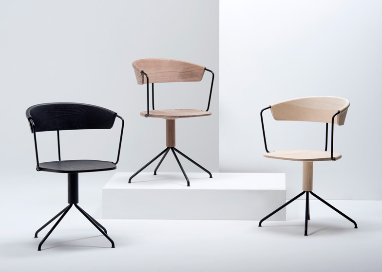 Uncino chairs by the Bouroullecs launch at Salone del Mobile
