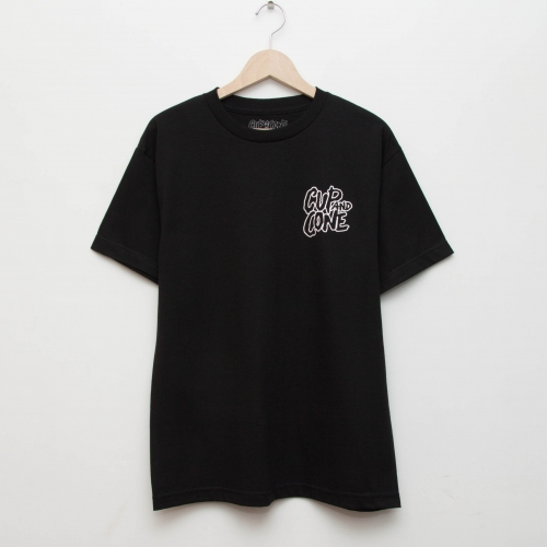 Logo Tee - Black - cup and cone WEB STORE