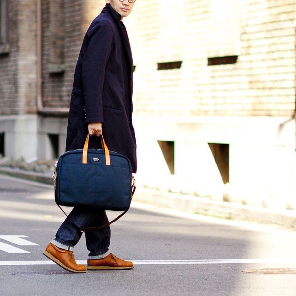WONDER BAGGAGE ワンダーバゲージ GOODMANS BRIEFCASE グッドマンズ・ブリーフケース/NAVY - struct / blueover WONDER BAGGAGE hola Tiny Formed