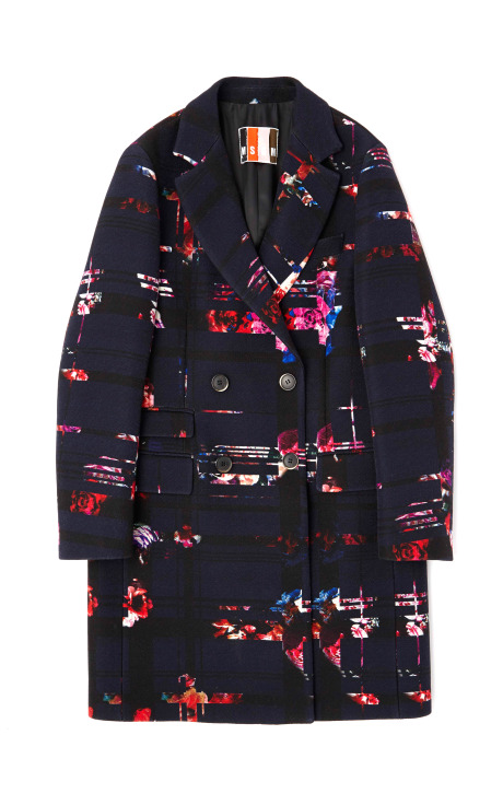 Double Breasted Floral Wool Coat by MSGM for Preorder on Moda Operandi