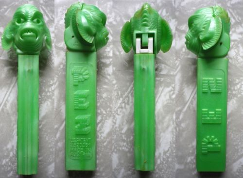 PEZ Original Universal CREATURE FROM THE BLACK LAGOON Pearlescent Green NO FEET | eBay