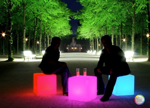 Design kollection llc outdoor led light cube 17 cordless with amazon outdoor led light cube 17 cordless with remote control mozeypictures Images