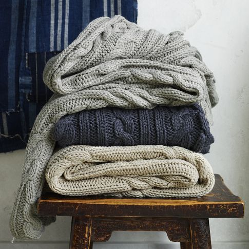 Braided Cable Throw   west elm