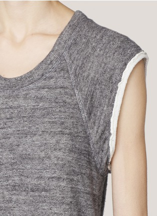 3.1 Phillip Lim - Sleeveless cotton sweatshirt | Grey T-Shirts Tops | Womenswear | Lane Crawford - Shop Designer Brands Online