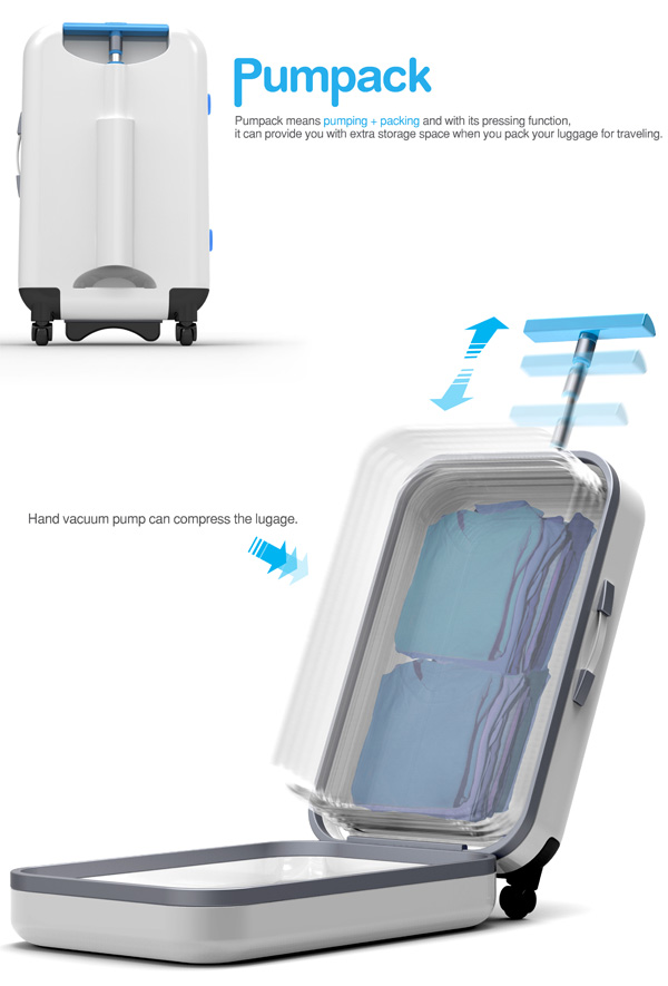 Pumpack – Modular Suitcase by Yejee Lee, Jongchan Mun, Seobin Oh and Woneui Hong » Yanko Design