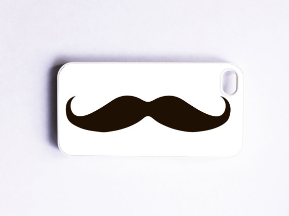 New Handlebar Mustache iPhone Case by onyourcasestore on Etsy