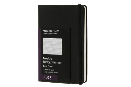 Moleskine 2013 12 months Weekly Diary Vertical | Diaries and Planners Moleskine Original