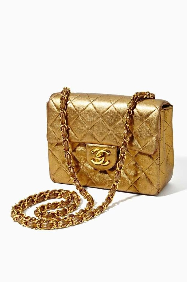 Vintage Chanel Quilted Gold Leather Handbag - SOLD OUT