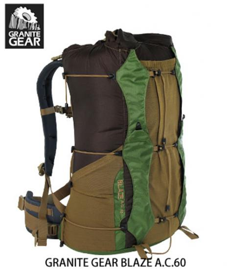 【GRANITE GEAR グラナイトギア】ブレイズAC 60 / BLAZE A.C.60 《BACKPACKER EDITORS'CHOICE 2011》受賞モデル ウルトラライト・バックパック - ATC Store~Trail Hikers & Runner's place to go!