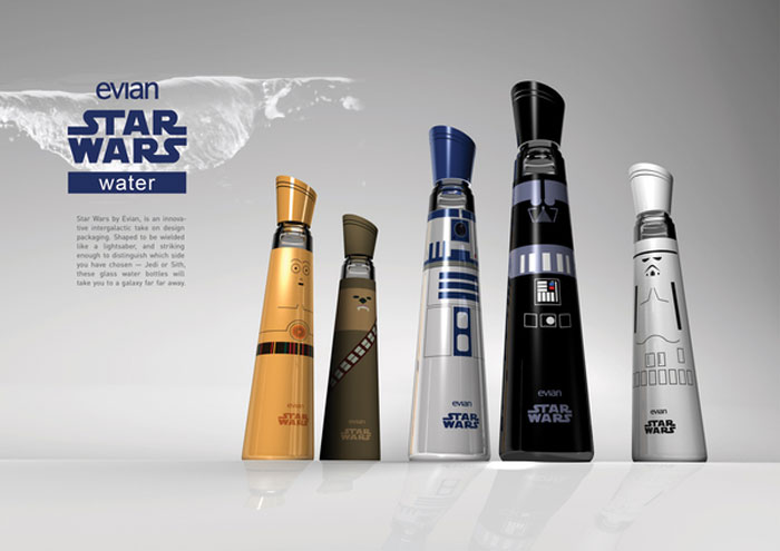 Evian Star Wars?Edition - The Dieline: The World's #1 Package Design Website -