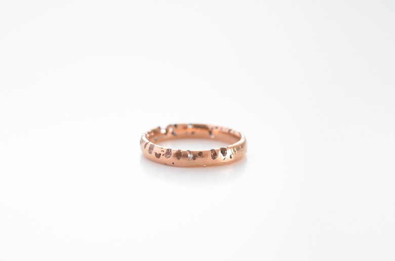 Eroded Confetti White Sapphire Ring (Polly Wales) - SOURCE objects