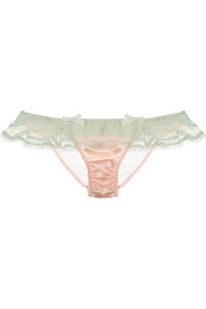 Agent Provocateur?|?Pamelina lace and satin briefs?|?NET-A-PORTER.COM