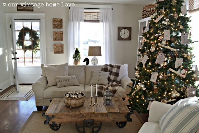 our vintage home love: 2012 Christmas Decor Ideas   Sewing and Crafts