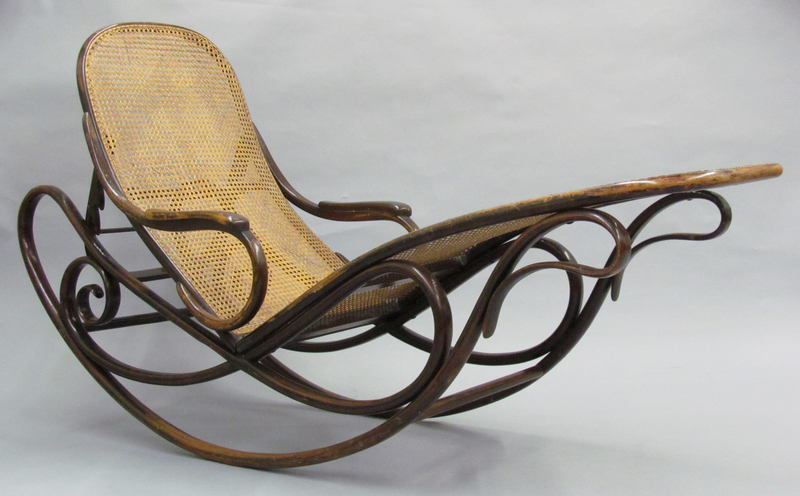 MoMA | The Collection | Gebrüder Thonet, company design. Rocking Chaise with Adjustable Back (model 7500). c. 1880