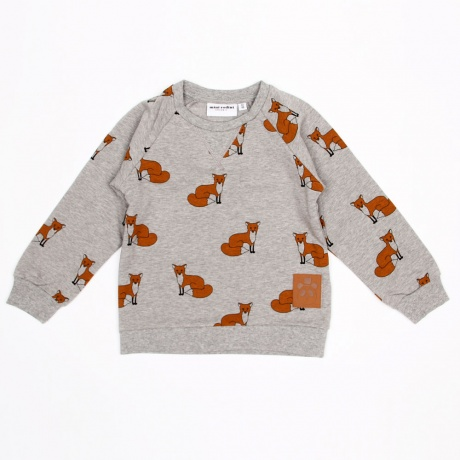 MINI RODINI FOX SWEATSHIRT GREY MELANGE - Mini Rodini