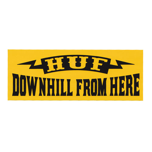 HUF - DOWNHILL (Yellow) - Growth skateboard elements