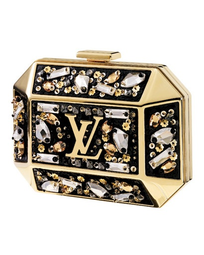 Crystal Embellished Brass Clutch From Louis Vuitton   Shine on