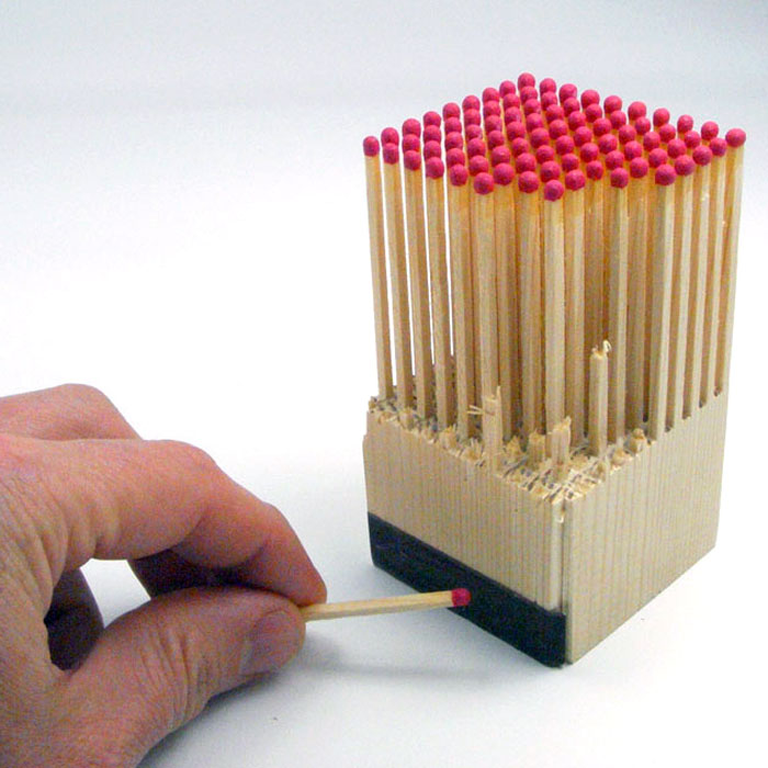Unique Wooden Matches - 100 wooden matches from 1 block of wood