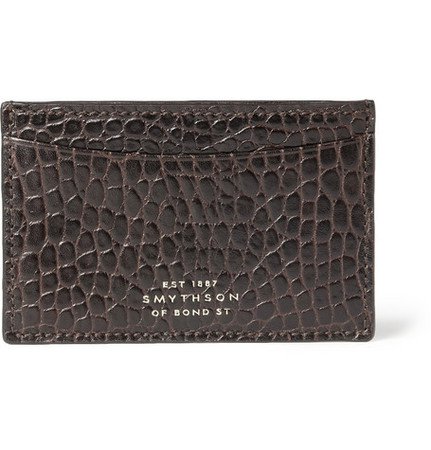 Crocodile-Embossed Card Holder