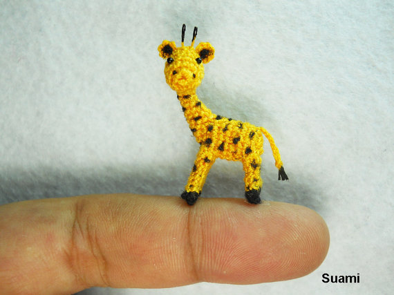 Cute Tiny Giraffe Micro Crochet Miniature Animals by SuAmi