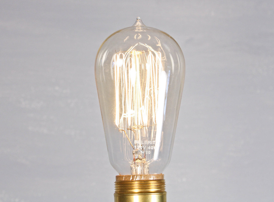 ONE Edison light bulb reproduction 40w by jappefort on Etsy
