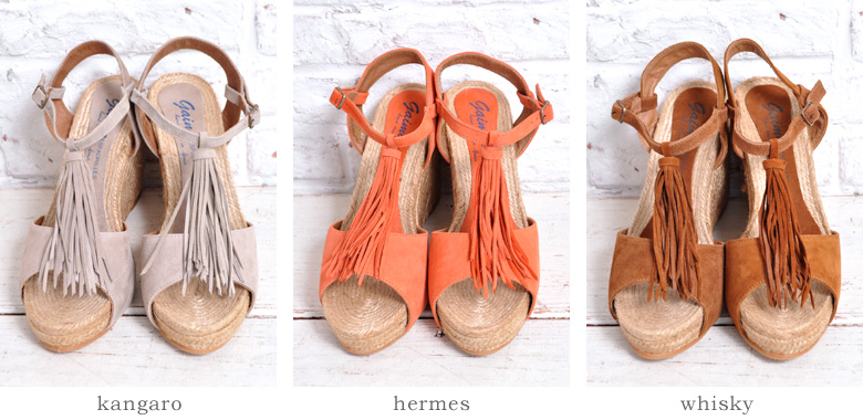 Rakuten: GAIMO( ガイモ) suede tassel espadrille sandals etica- Shopping Japanese products from Japan