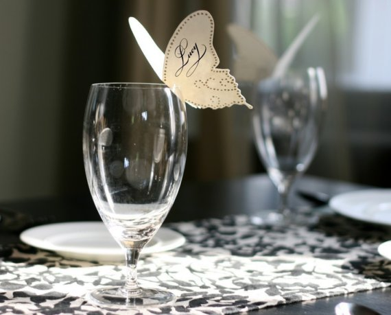 Butterfly Place Cards by TimelessPaper on Etsy