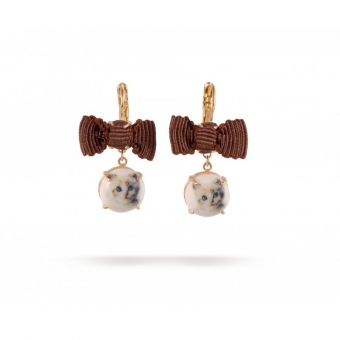 【LASO ラソ】2012SS新作★★Les Nereides★★EARRINGS DÉLICIEUSEMENT DÉCALÉ CERAMICS AND BOW レ・ネレイド ピアス