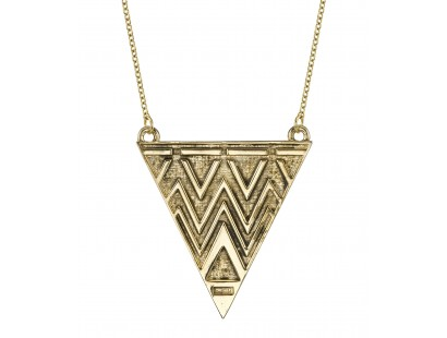Antiqued Tribal Triangle Necklace - House of Harlow 1960 | Glamhouse