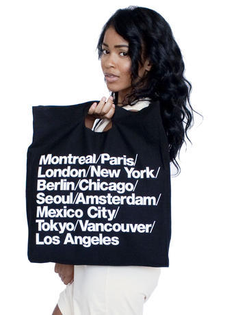 Bull Denim Woven Cotton Cities Bag | Shop American Apparel