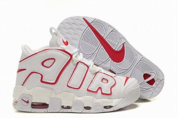nike air max more uptempo white red men sneakers