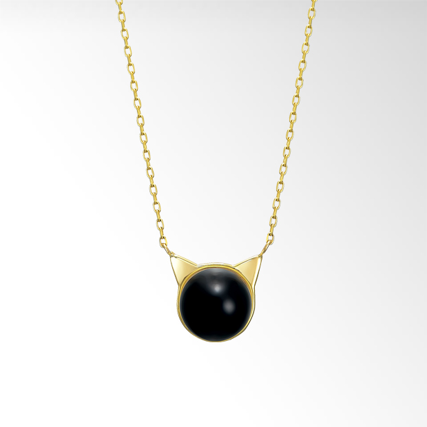 STAR JEWELRY |PEARL CAT NECKLACE: ネックレス