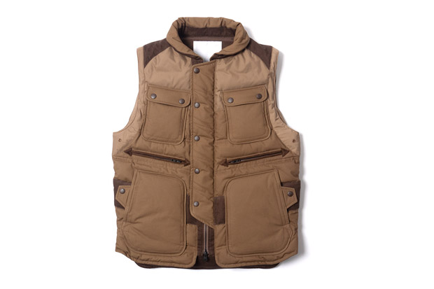 White Mountaineering Cotton Cloth Luggage Down Vest | Hypebeast