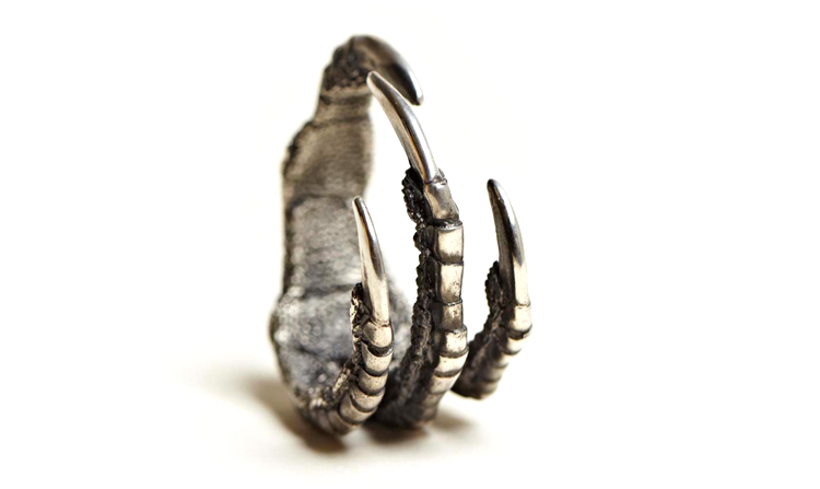 Ann Demeulemeester Silver Claw Ring | SLAMXHYPE
