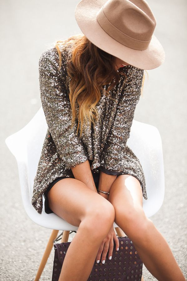 Sequins / Holiday Style / Sequin Jacket