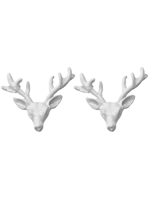 Deer Stud Earring in matte white by Wildfox Couture, Wildfox deer earrings, Wildfox stud earrings, Wildfox earrings, Wildfox gold deer earrings, Wildfox Couture Free Shipping
