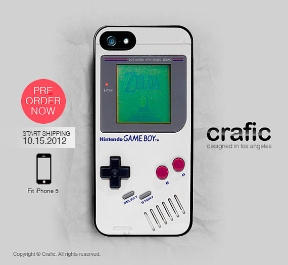 iPhone 5 Case Classic Gameboy iPhone 5 Case FREE by CRAFIC