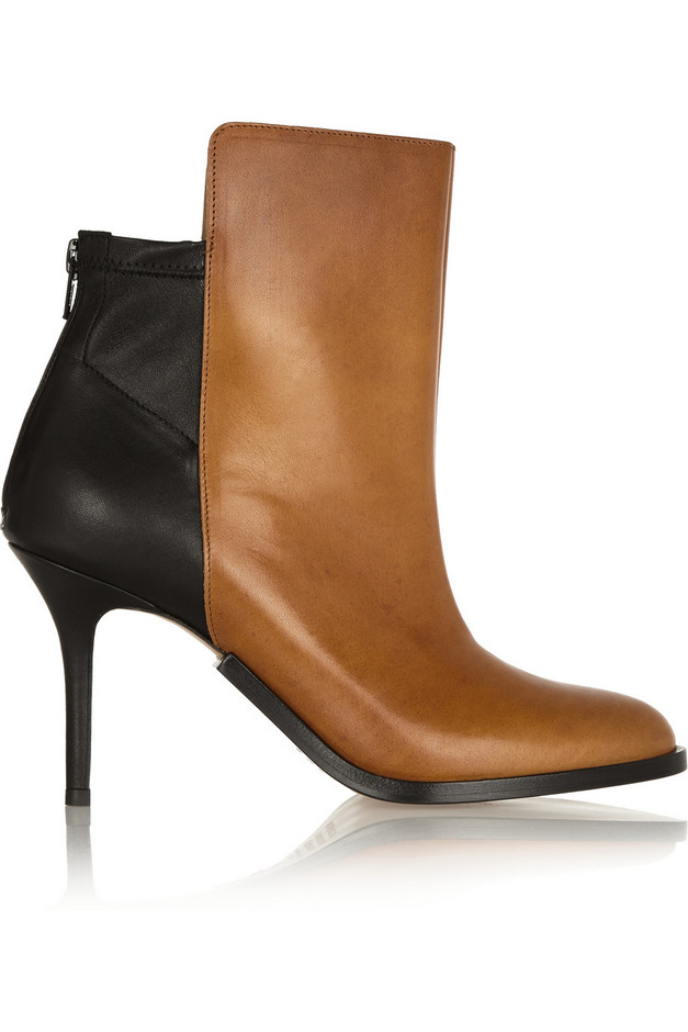 Maison Martin Margiela | Two-tone leather ankle boots | NET-A-PORTER.COM