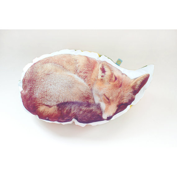 Red Fox pillow photo cushion XL by bl0emetje on Etsy