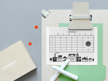 Present&Correct - Timetable Rubber Stamp
