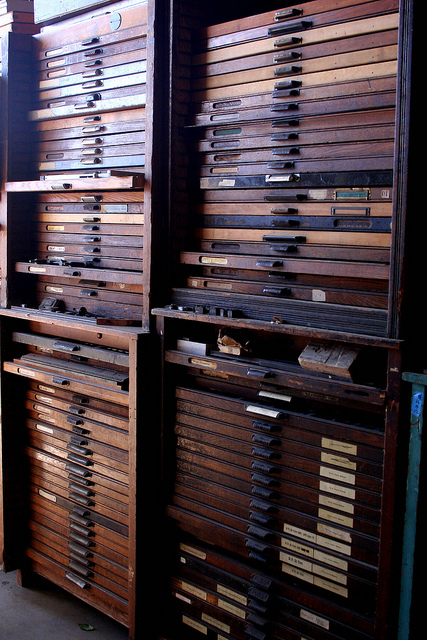 la printers fair drawers and drawers of type | Flickr - Photo Sharing!