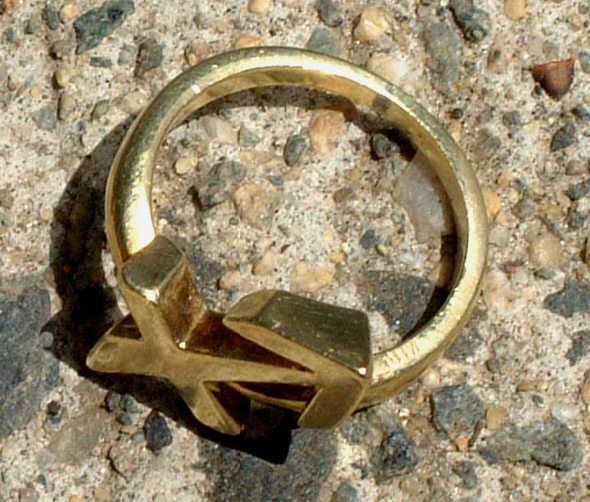 Vintage Cartier 18 karat Gold Anchor Ring
