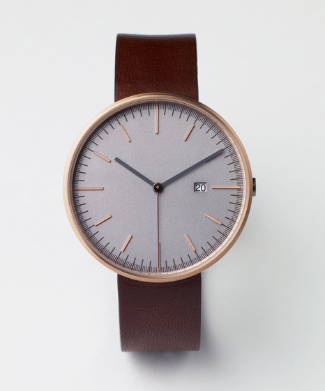 203 Series (PVD Rose Gold / Walnut Leather) | Uniform Wares