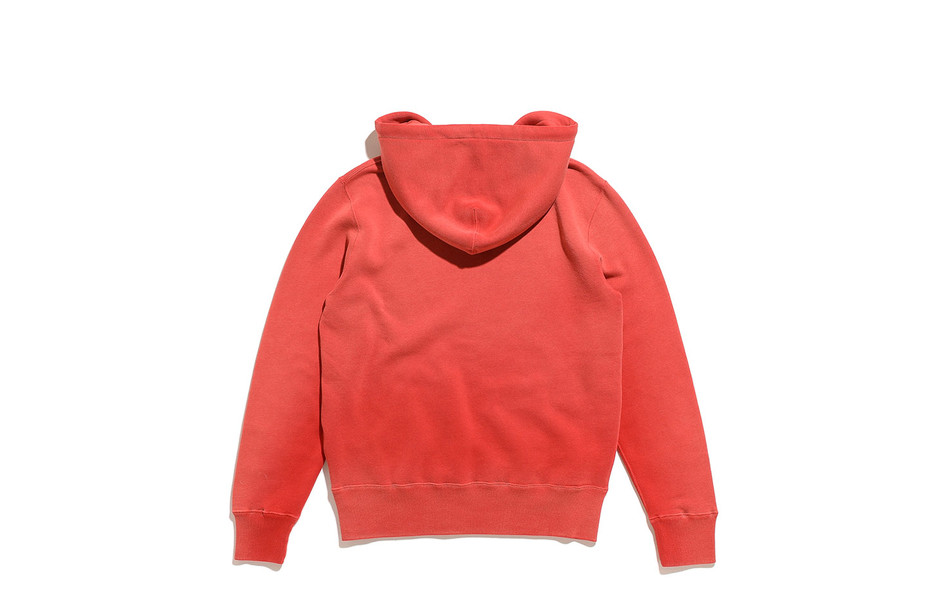 Logo Fleece Hoodie-Faded Red