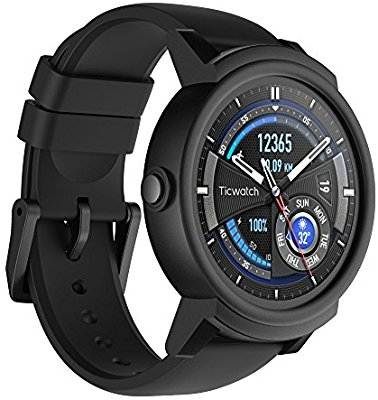 Amazon | Ticwatch E most comfortable Smartwatch-Shadow, 1.4 inch OLED Display, Android Wear 2.0, Compatible with iOS and Android, Google Assistant | スマートウォッチ | パソコン・周辺機器