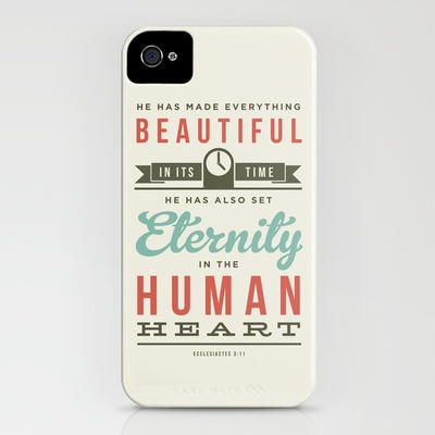 He has made everything beautiful iPhone Case by Typographic Verses | Society6